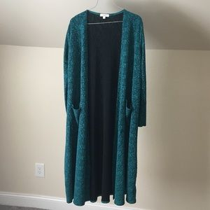 lularoe • Sarah Teal Blue Long Duster Cardigan